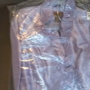 2 piece suit lavender in color size 16 brand new